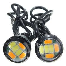 100pcs 9W 23MM 5730 6LED Eagle Eye Day Running Dual Switchback Turn Signal Lamp