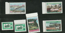 1977 Burma, The 100th Anniversary of Railway in Burma, Lot of (6), MNH