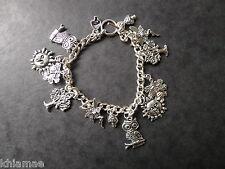 """""""Mystic Woods"""" bracelet charme 13 Wiccan-Bijoux Pagan silver Greenman Hibou"""