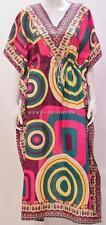 PLUS SIZE HIPPIE RETRO BOHO PSYCHEDELIC OPTICAL KAFTAN DRESS PINK 20 22 24 26