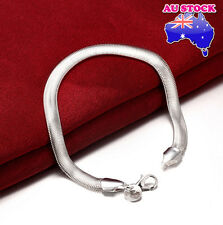Wholesale 925 Sterling Silver Filled 6MM Classic Solid Curb Charm Bracelet Chain