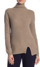 Kier & J Cashmere Mock Neck Ribbed Sweater Twine XL NWT $316