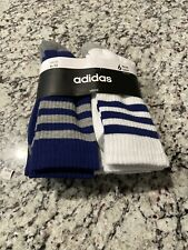 Men's Adidas Original 3-Stripe Crew Socks Navy/Grey Heather/White