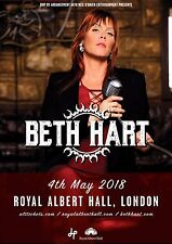 BETH HART 2018 LONDON CONCERT TOUR POSTER- Blues Rock, Soul Music, Joe Bonamassa