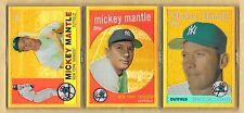 2010 Topps 1958,59,60 Mickey Mantle EXCLUSIVE GOLD CHROME REFRACTORS Set Rare