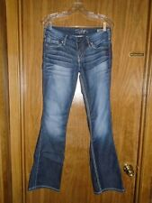 Women's Silver Twisted Boot Cut Denim Jeans Size 27 x 33