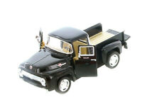 Kinsmart 1956 Ford F-100 Pickup 1:38 Scale Diecast Model Car Pull Back Black