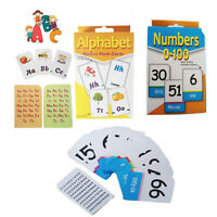 Flash Card NUMBER 0-100 Alphabet Kids Flashcard ABC Cards Read Count Educational
