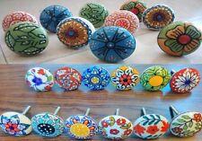 11 Colorful Design Ceramic Cupboard Cabinet Door Knobs Drawer puller knob pull
