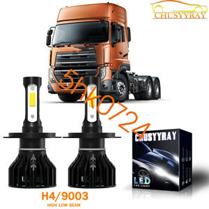LED Headlight Kit Light Bulbs 12000LM White High Power H4 pair For Nissan Truck
