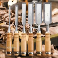 Wood Carving Hand Chisel Set 6 Pieces Woodworking-Professional Vanadium SteelL