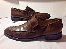 Mercanti Fiorentini Men's Penny Loafer - Brown Italy 6459 Slip on, Business 12 M