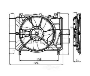 Radiator And Condenser Fan Assy TYC 621620