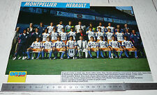 CLIPPING POSTER FOOTBALL 1991-1992 MONTPELLIER HERAULT MHSC LA PAILLADE MOSSON