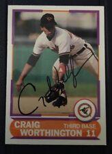 CRAIG WORTHINGTON 1989 SCORE AUTOGRAPHED SIGNED AUTO BASEBALL CARD 21 ORIOLES