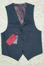 BNWT The Spitalfields Clothing Co. Men's Navy Blue Top Quality Waistcoat UK 36 R