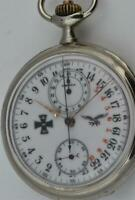 WWI military Pilot's award OMEGA CHRONOGRAPH 24h day/night military dial watch