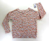 Jolt Womens Pastel Multicolor Crew Neck Long Sleeve Sweater Size Medium New
