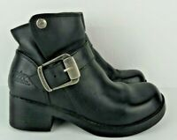 Harley Davidson Womens Size 6 Black Leather Ankle Buckle Khari Boots