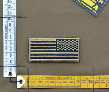 "Ricamata / Embroidered Patch Reverse ""USA Flag"" Sand with VELCRO® brand hook"