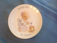 "Precious Moments ""Blessed are the Merciful"" Plate 1984 Jonathan & David"