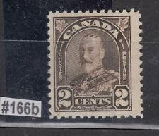 1930-1 #166b DIE I 2¢  KING GEORGE V ARCH/LEAF ISSUE   F-VFNH