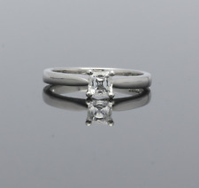 PLATINUM BOODLES ASHER CUT DIAMOND SOLITAIRE RING .38cts