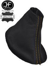 Costura Amarillo Manual Cuero Gear stick Polaina se ajusta VW Volkswagen Fox 05-11