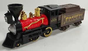 Pull Back Pacific Railway Classic Steam Engine 10 Inch Toysmith #8085 Free Ship