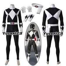 Zyuranger Mammoth Ranger Goushi Black Cosplay Costume Jumpsuit Gloves Accessory