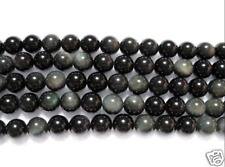 Black Rainbow Obsidian 8mm round Loose Beads Strand 15""