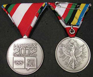 Innsbruck 2012 1st YOG Winter Olympic Games Limited Athletes Participation Medal