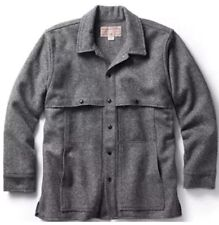 Rare CC Filson Wool Cape Coat Grey Large Jacket Mackinaw Button Cruiser Field XL