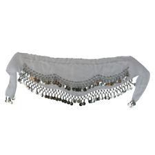 Kid Size Belly Dance Hip Scarf Wrap Belt Sash Skirt SILVER Coins Party Favor