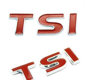 1.5T CHROME STICKER DECAL LOGO TSI BADGE 1.8T TSI 3D RED 2.0T EMBLEM