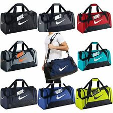 Nike Brasilia 6 XS Small Medium Large Duffel Gym Bag Navy Black Grey Gray Duffle