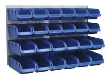 24 Sealey TPS131 Parts Storage Box/Bins + Panel For Garage/Workshop/Shed BLUE