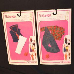 VINTAGE 1982 K-MART UNEEDA PRINCESS DOLL FASHIONS CLOTHES BARBIE CLONE ON CARD