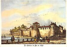 B75570 Dax vielle gravure du chateau de dax  france