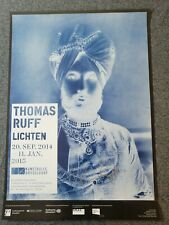 Thomas Ruff Plakat signiert 2014 Ausstellung Lichten Kunsthalle Düsseldorf