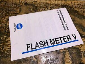 Minolta Flash Meter V instructions manual, LIKE NEW, ORIGINAL