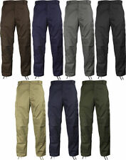 BDU Pants Solid Colors 6 Pocket Military Cargo Army Fatigue Polycot Twill ROTHCO