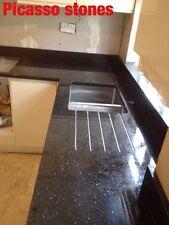kitchen worktops Black  Mirror Fleck  Sample £1
