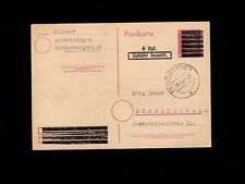 Post WWII Germany Hitler Head & Slogan Printed Over Postal Card 1945 4l