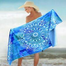 """BEACH TOWEL - MANDALA BLUE 78x35"""""""