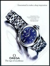 1996 Omega Seamaster 120m watch color photo vintage print ad