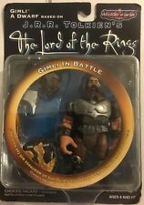JRR TOLKIENS THE LORD OF THE RINGS GIMLI IN BATTLE  FIGURE NEW IN BOX