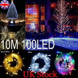 Christmas 100LED Fairy String Lights Main Plug In Indoor&Outdoor Xmas Tree Party