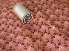 "17"" Windham Hendricksen Cotton Quilt Fabric Thread Time Salmon Peach Calico 0530"
