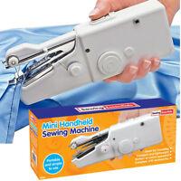Mini Portable Cordless Hand Held Single Stitch Fabric Sewing Machine Home Travel